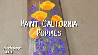 How to Paint California Poppies in Acrylics