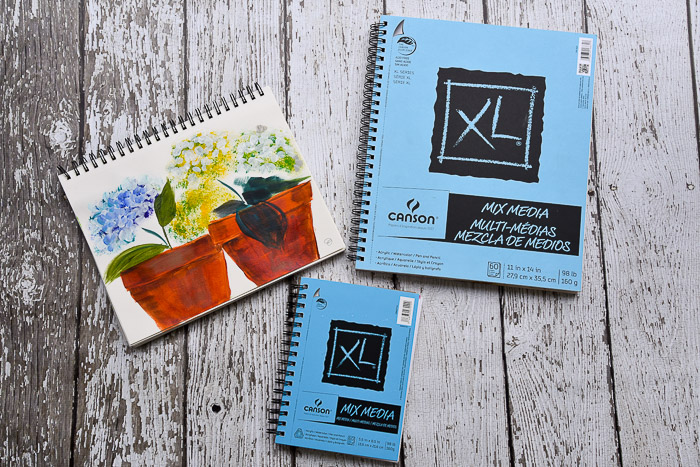 Canson Mixed Media pads, pamelagroppe.com