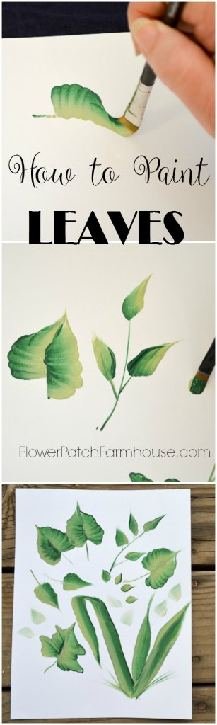 How to Paint leaves, one easy stroke at a time.