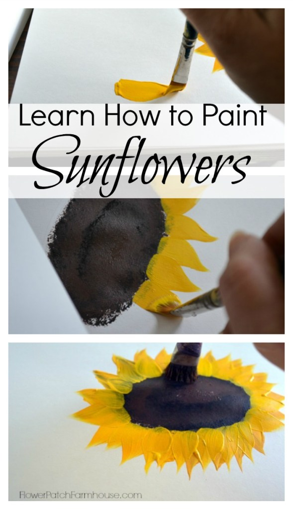 How to Paint sunflowers for beginners, one easy stroke at a time