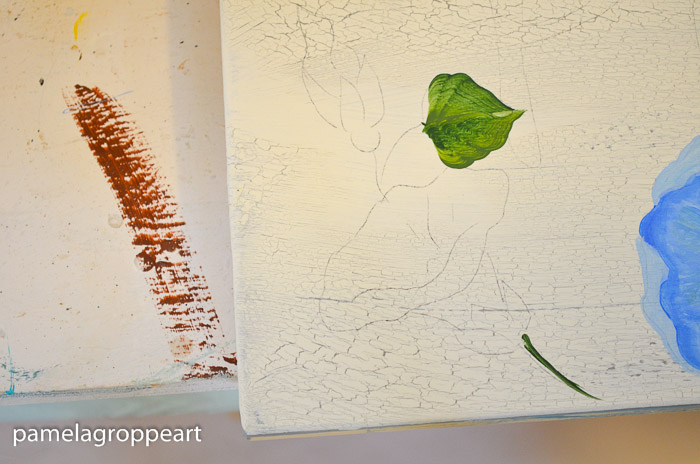 Outline of morning glory to be painting, How to paint Morning Glories