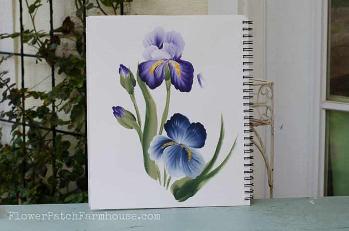 How to Paint an Iris in Acrylics