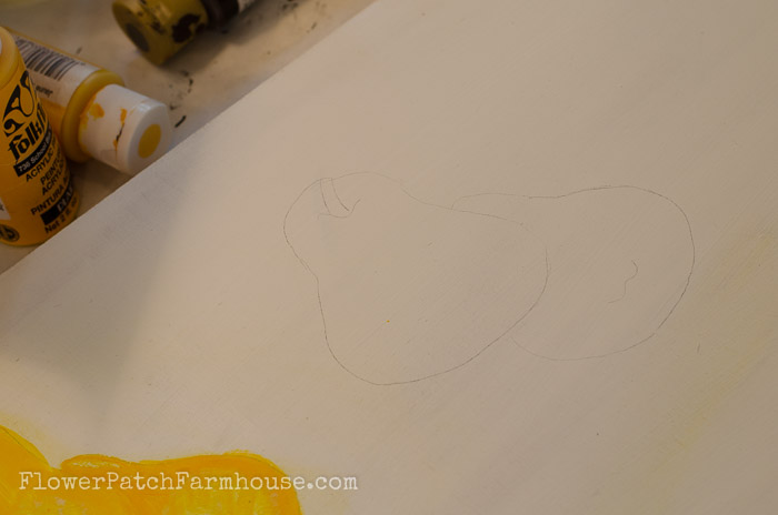 Pear Painting Outline
