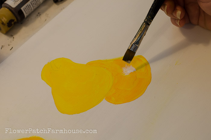 How to Paint a pear highlights