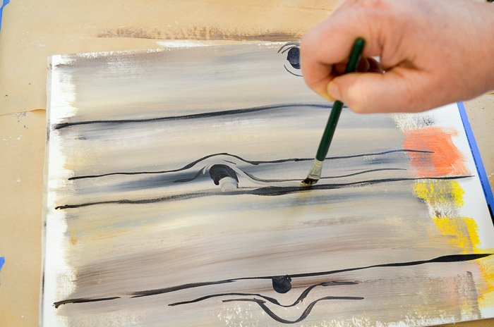 how to paint faux wood grain tutorial