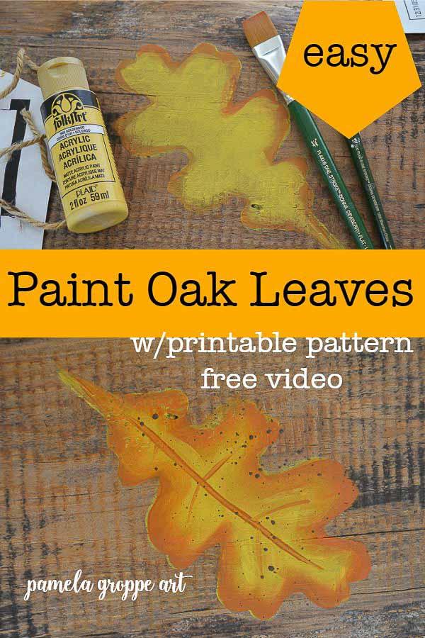 Paint Fall Oak Leaves In Acrylics Pamela Groppe Art