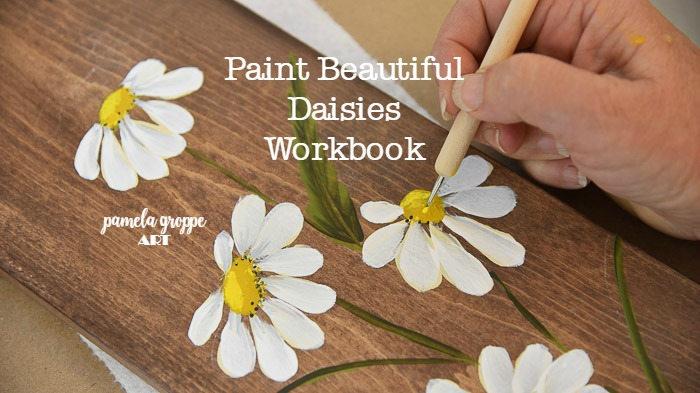 Daisy being painting, Paint Daisies Workbook
