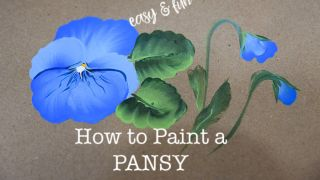 easy How to Paint a Pansy in Acrylics