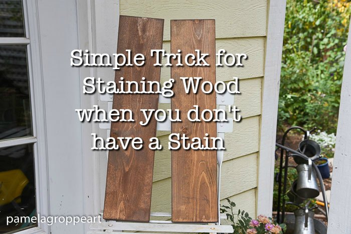 How to Stain Wood with Acrylic Paint