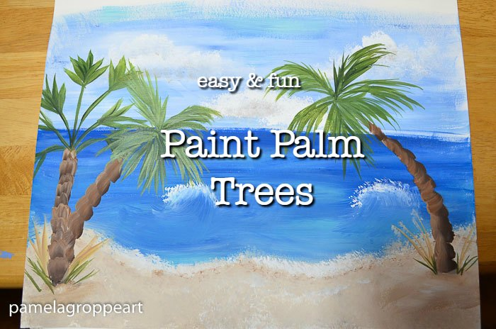 easy Paint Palm Trees