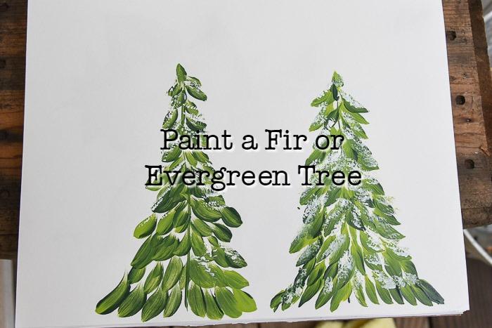 Easy Paint a Fir Tree in Acrylics