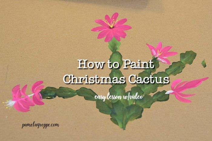 easy How to Paint Christmas Cactus