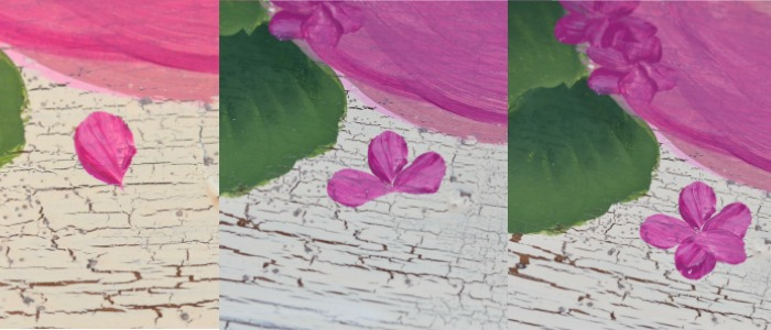 3 steps for 5 petal flower how to paint hydrangeas