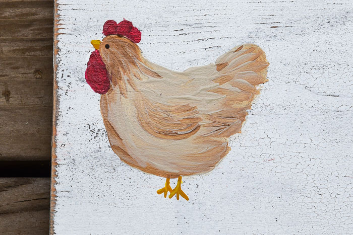 easy Paint Chickens in acrylics