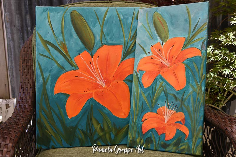 How to Paint an Orange Lily