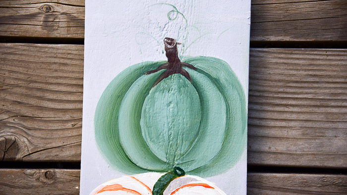 Learn to Paint a Green Pumpkin in Acrylics