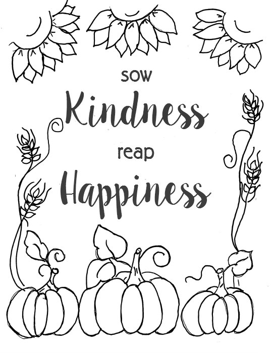 Fall coloring page outline