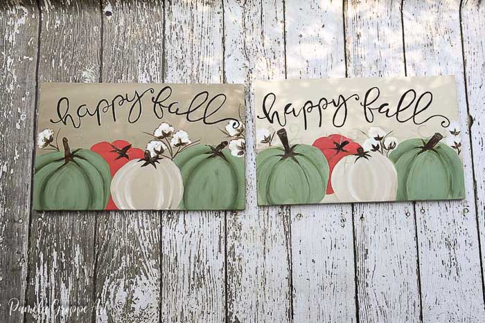 Lettering – Paint Fall wood signs with Pumpkins and Cotton Bolls