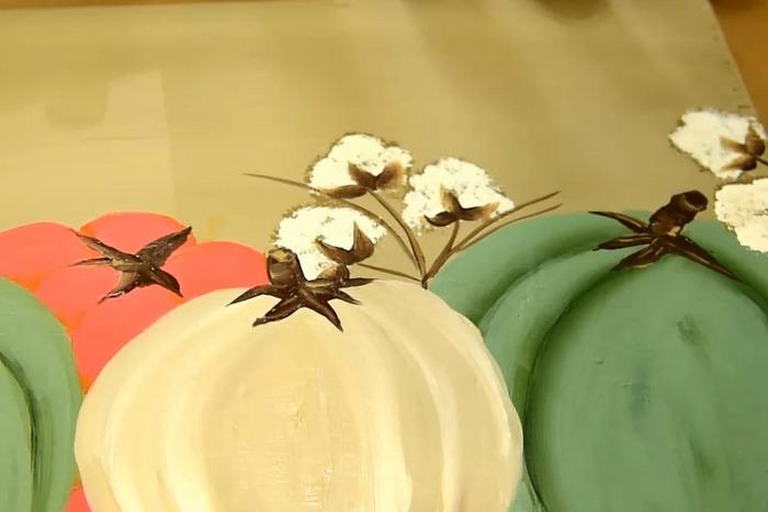 paint cotton boll stems