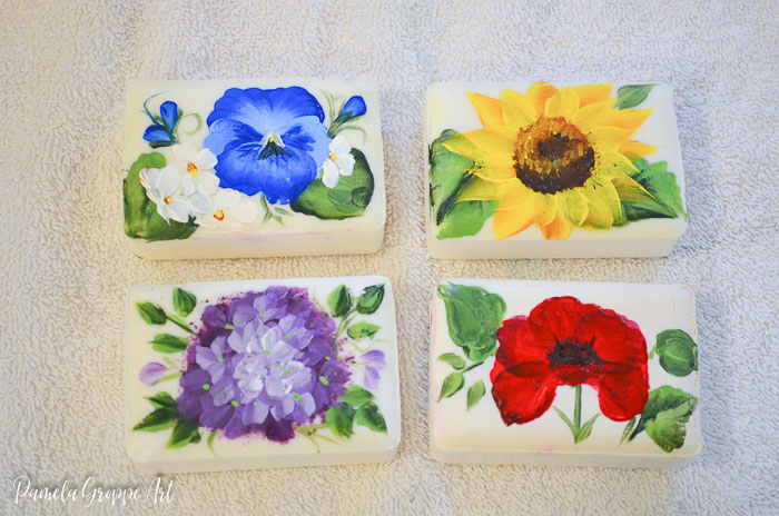How to Paint Flowers on Soap
