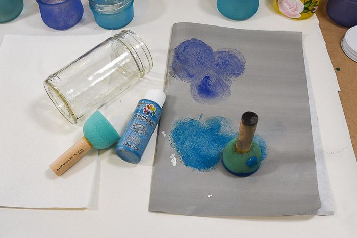 sponge pouncer offloading excess paint