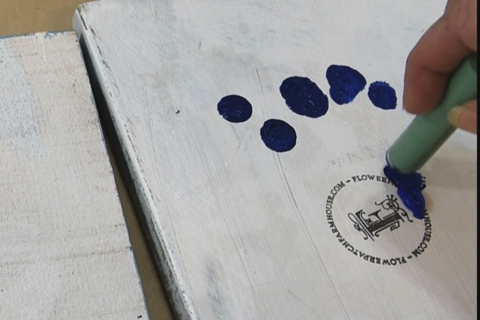 Reload dauber with Cobalt blue
