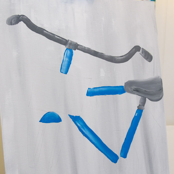 paint acrylic bicycle seat