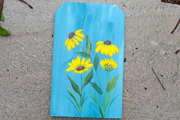 How to Paint Black Eyed Susans