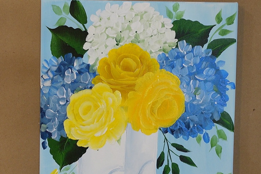 close up for yellow roses in boots