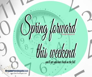 Spring Forward - you'll get your hour back in the fall.