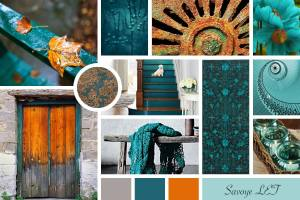 My mood board from PhotoShop Skillshare class.