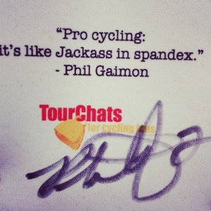 Pro cycling: It's like Jackass in spandex - Phil Gaimon Quote on TourChats Koozie