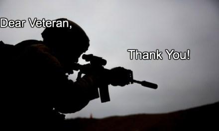 Thank you, Veteran!