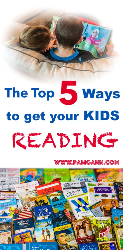 Top 5 ways to get your kids reading more
