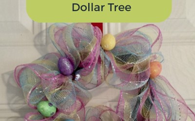 Easy $5 DIY Easter Wreath from Dollar Tree