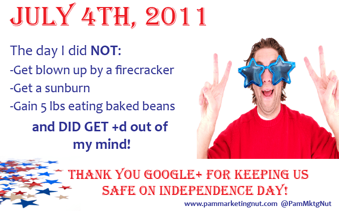 Google+ July 4th Indpendence Day 2011