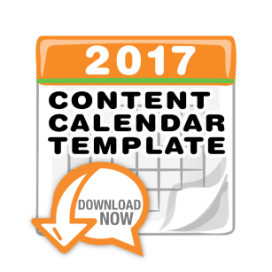 free 2017 content marketing calendar template download