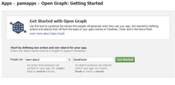 get started facebook open graph