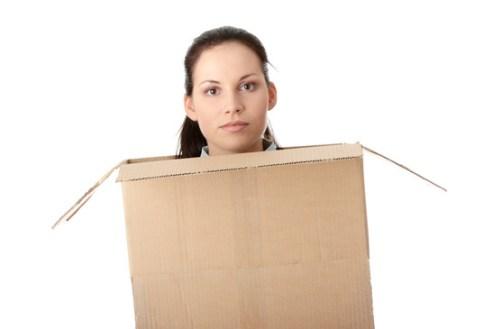 entrepreneur stuck in a box