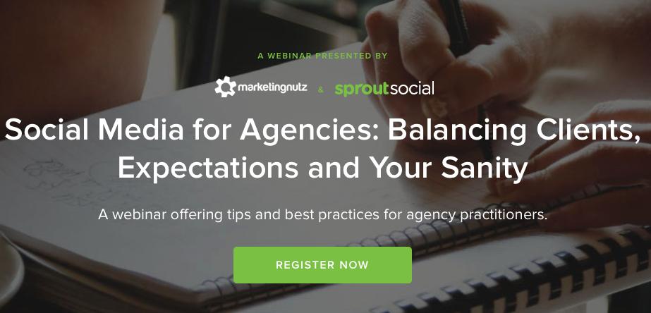 social media agency webinar sprout social marketing nutz