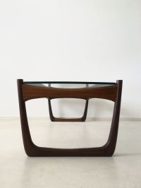Danish Glass & Rosewood Coffee Table for sale at Pamono