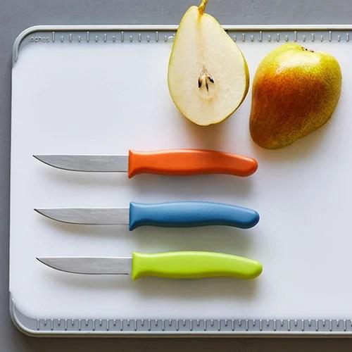 kitchen knives sets sink drain installation paring knife set shop pampered chef canada site
