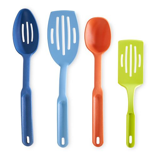 kitchen tool distressed white table multicolor utensil set shop pampered chef canada site