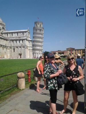 Judy and Teresa at Pisa