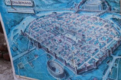 Olden map of Verona