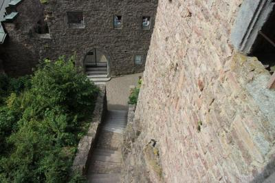 A tall wall in the Castle