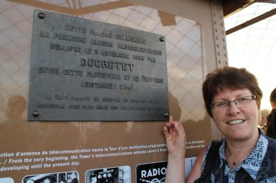 Me with the plaque