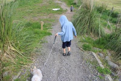 Taking Maisy for a walk