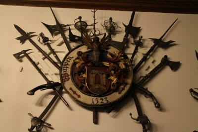 a small part of the weapons on the wall