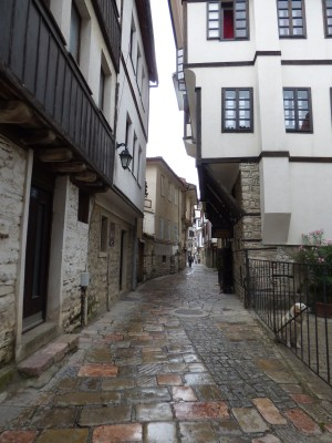 We wandered through narrow paths between old but picturesque buildings
